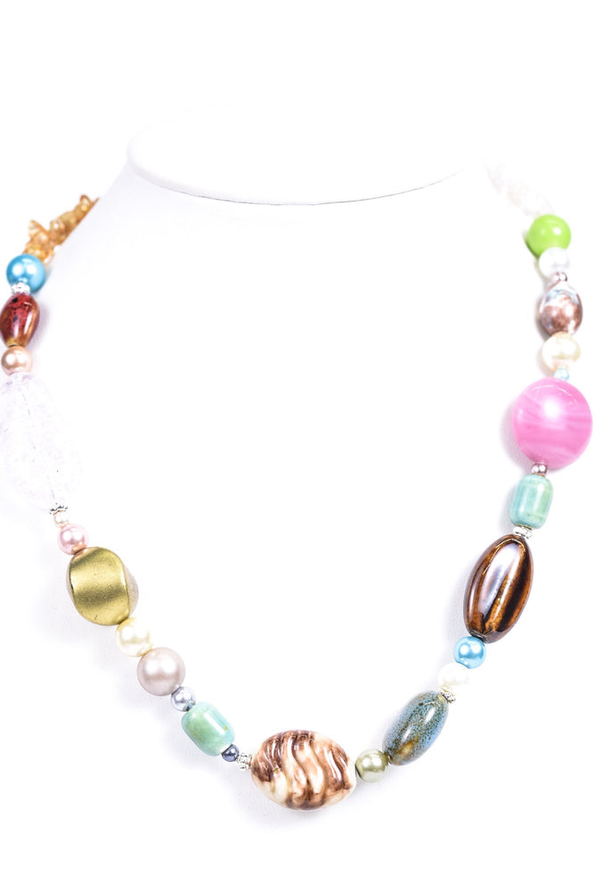 Multi Color Rock/Beaded Necklace - NEK3438MU
