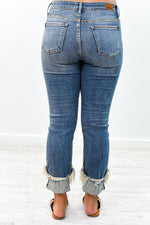 Do A Double Take Medium Denim Distressed Jeans - K472DN