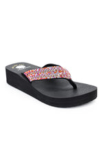 Notice It Now Fuchsia/Multi Color Bling Sandals - SHO1835FU