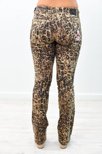 She's Fabulous And Fierce Leopard/Embroidered Jeans - K476LE