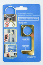 Gold Solid Contactless Keychain - KEY1098GO