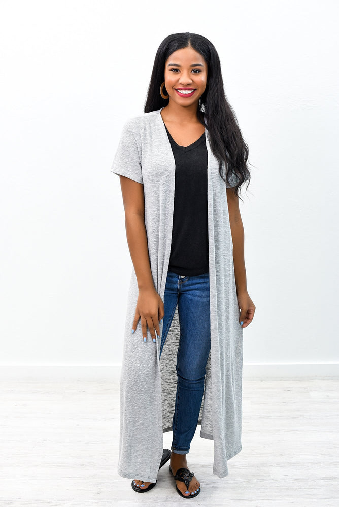 Solid Comforts Gray Solid Duster - O2569GR