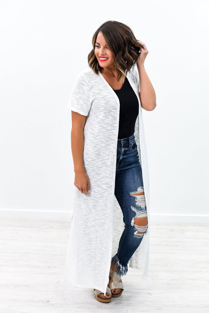 Solid Comforts Off White Solid Duster - O2577OW
