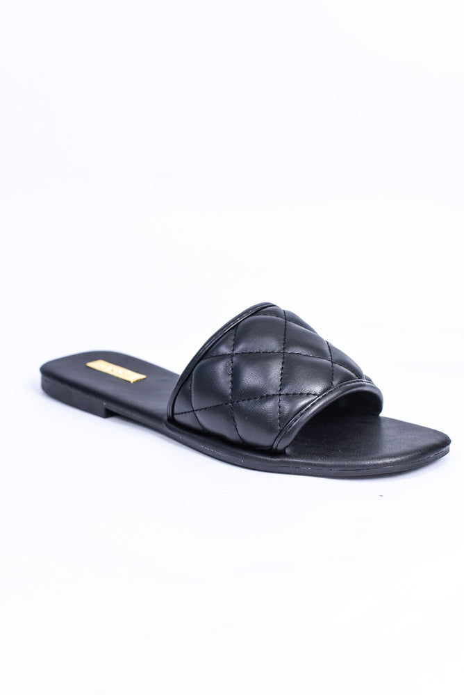 Every Little Step Black Sandals - SHO1848BK