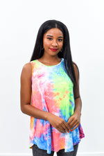 Impossible To Miss Multi Color Tie Dye Top - B8935MU