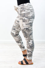 Never Seen Out Taupe Camouflage Pants - K478TA