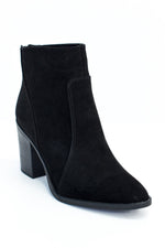 Living My Dream Black Suede Booties - SHO1855BK