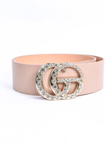 Taupe/Gold Bling Regular Belt - BLT1102TA