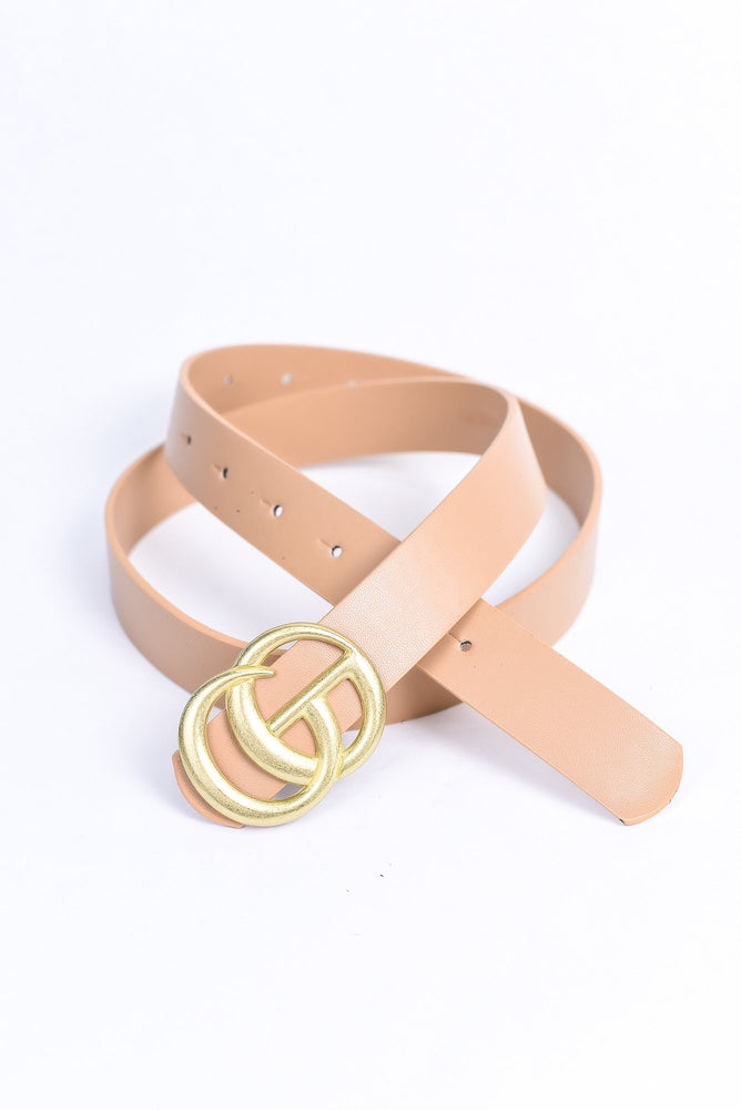 Taupe/Gold Belt - BLT1114TA