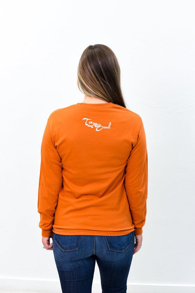Spice Girl Texas Orange Long Sleeve Graphic Tee - A781TO