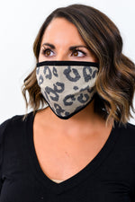 Brown/Black Leopard Face Mask - FM097BR