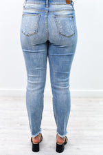 No Need To Distress Light Denim Distressed Jeans - K486DN