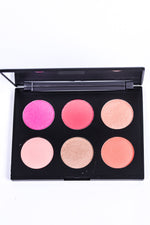 6 Shade Blush Palette - Deep - MK133BS