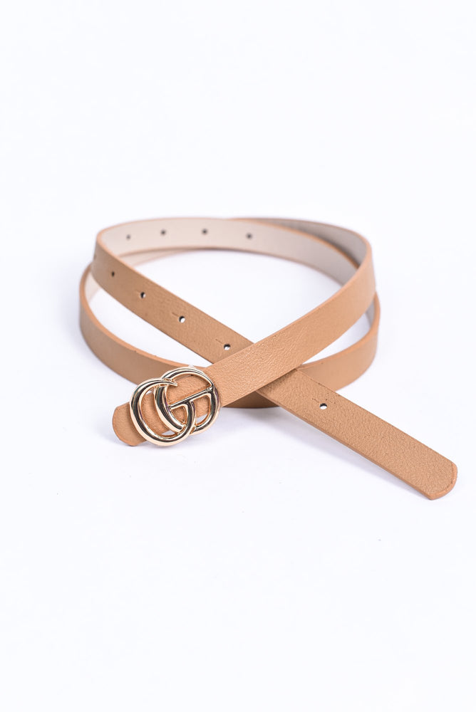 Taupe/Gold Regular Belt - BLT1121TA
