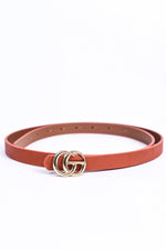Brick/Gold Regular Belt - BLT1123BR