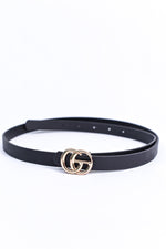 Black/Gold Regular Belt - BLT1122BK