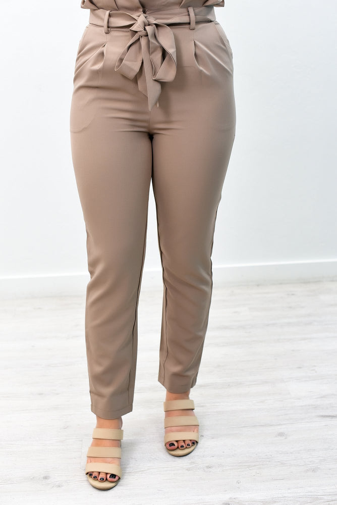 Tie Again Khaki Solid Pants - PNT1151KH