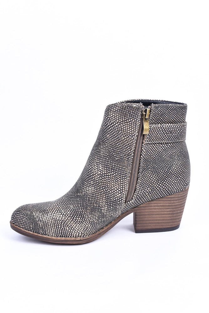Step Into My Life Gun Metal Printed Booties - SHO1886GMT