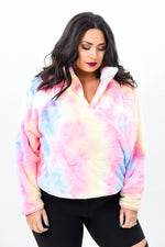 Feeling Brand New Pink/Multi Color Tie Dye Pullover - O2740PK