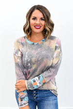 Dying To Know You Multi Color Tie Dye/Cow Printed Top - B9542MU