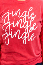 Jingle Jingle Jingle Vintage Red Long Sleeve Graphic Tee - A880VRD