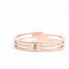 Rose Gold Hinge Bangle Bracelet - BRC2880RG