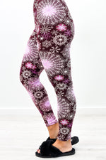 Purple Geometric Printed Leggings (Sizes 4-12) - LEG2763PU