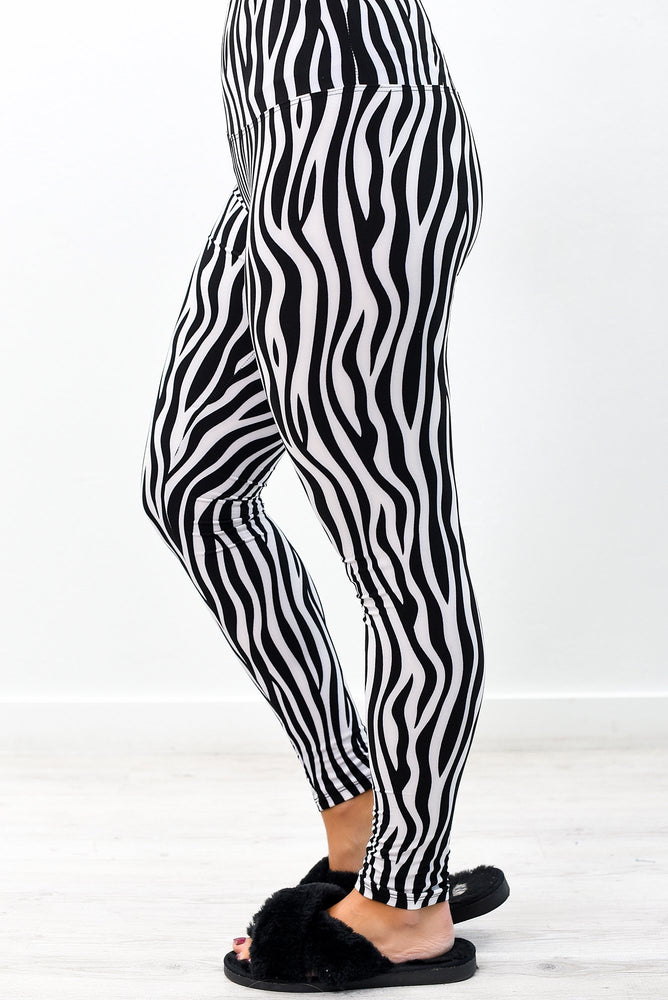 Zebra Wide Band Printed Leggings (Sizes 4-12) - LEG2753ZE