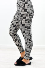Black Printed Leggings (Size 4-12) - LEG2765BK