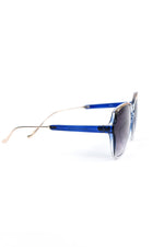 Blue/Clear Frame/Black Ombre Lens Glasses - SGL263BL - FREE hard case