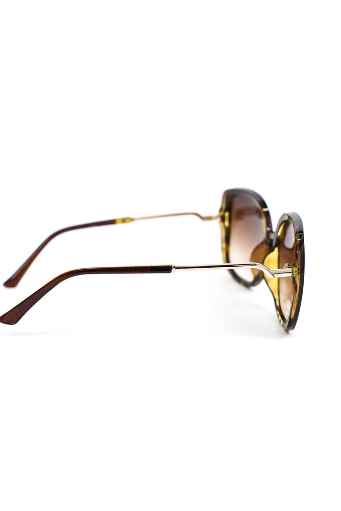 Brown Tortoise Shell Frame/Brown Ombre Lens Sunglasses - SGL256BR- FREE hard case