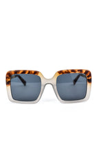 Clear/Tortoise Shell Frame/Black Lens Sunglasses - SGL250CL - FREE hard case