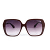 Maroon/Leopard Frame/Black Ombre Lens Sunglasses - SGL258MR - FREE hard case