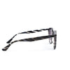 Gray Striped Frame/Black Lens Sunglasses - SGL242GR - FREE Hard Case