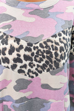 Hiding In Plain Sight Pink Camouflage/Leopard Chevron Top - B10124PK