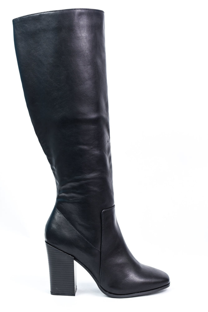 Kick The Dust Up Black Leather Boots - SHO1917BK