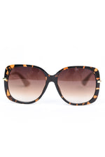 Brown Tortoise Shell Frame/Brown Lens Oval Sunglasses - SGL293BR - FREE hard case