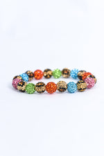 Multi Color/Leopard Bling/Crystal Stretch Bracelet - BRC2899MU