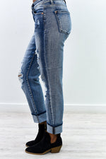 Always In Style Light Denim Distressed Jeans - K422DN