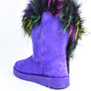 Never Fur-gettable Purple/Multi Color Fur Boots - SHO1919PU