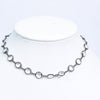 Hematite/Crystal Single Strand Necklace - NEK3624HM