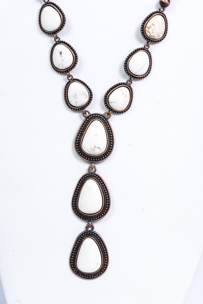 Copper/Ivory Statement Necklace - NEK3632CP