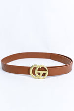 Cognac/Antique Gold Belt - BLT1138CGN