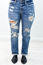 Too Sweet To Handle Medium Denim Distressed Jeans - K588DN