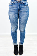 Here Comes The Trouble Medium Denim Jeans - K587DN