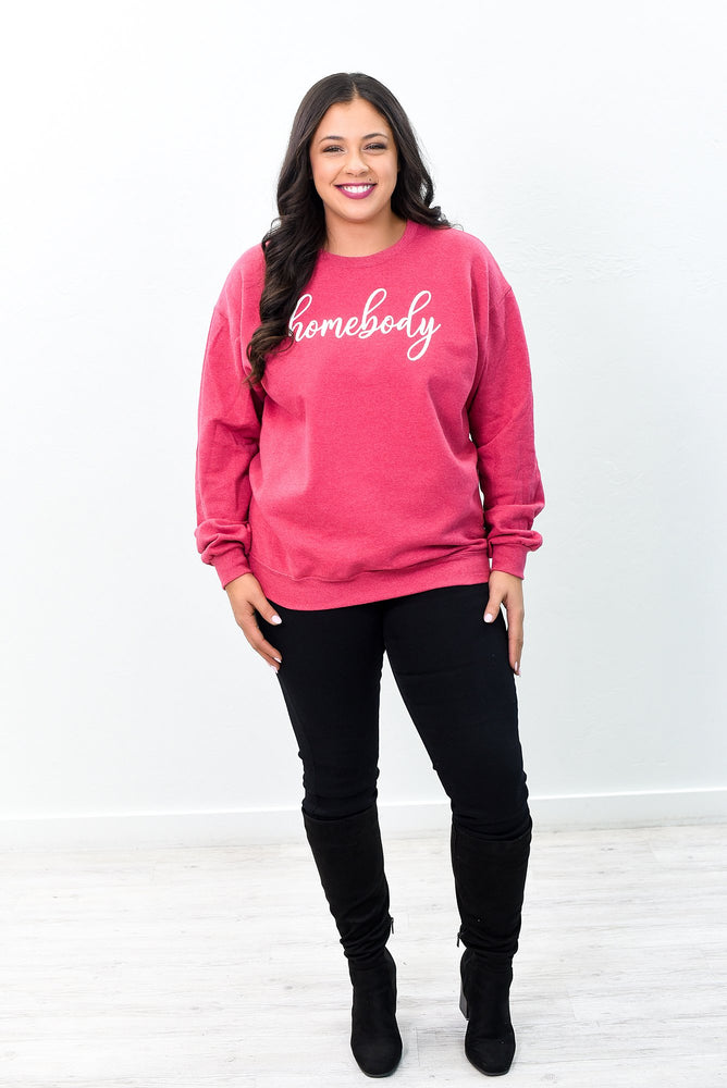 Homebody Vintage Red Graphic Sweatshirt - A1016VRD