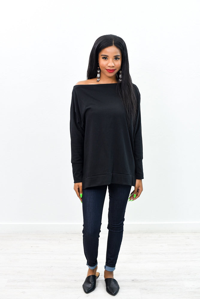 A Little Chilly Black Top - B10266BK