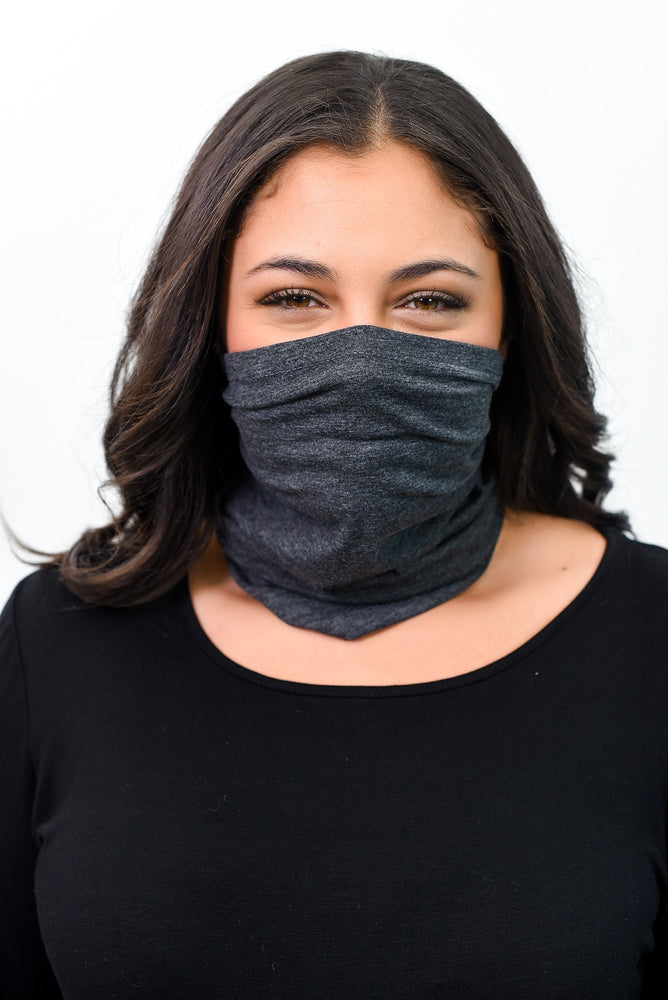 Charcoal Gray Gaiter Face Mask - FM109CG