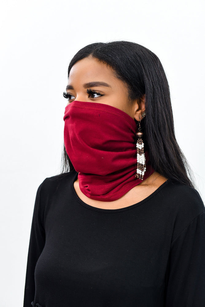 Burgundy Gaiter Face Mask - FM110BU