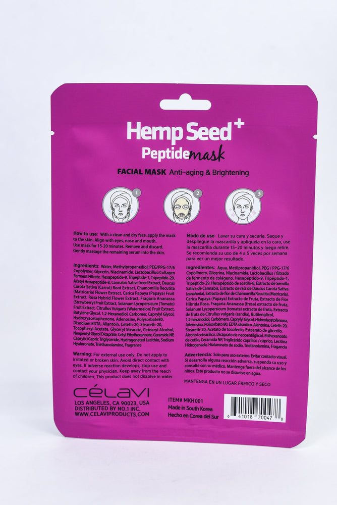 Hemp Seed Peptide Mask Sheet - SM014